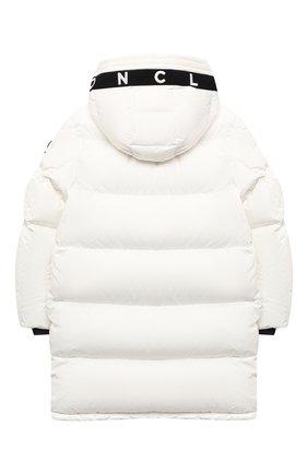 Детское пуховое пальто MONCLER белого цвета, арт. F2-954-1C512-20-54A91/8-10A | Фото 2