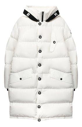 Детское пуховое пальто MONCLER белого цвета, арт. F2-954-1C512-20-54A91/12-14A   Фото 1