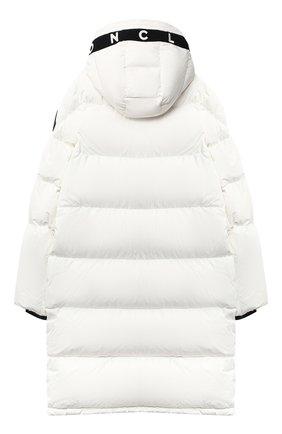 Детское пуховое пальто MONCLER белого цвета, арт. F2-954-1C512-20-54A91/12-14A   Фото 2