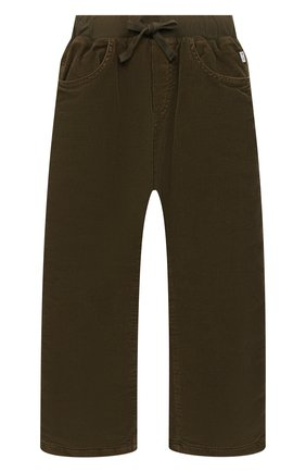 Детские хлопковые брюки IL GUFO хаки цвета, арт. A20PLR02V6005/5A-8A   Фото 1 (Материал подклада: Хлопок; Материал внешний: Хлопок; Мальчики Кросс-КТ: Брюки-одежда; Ростовка одежда: 4 года   104 см, 5 лет   110 см, 7 лет   122 см)