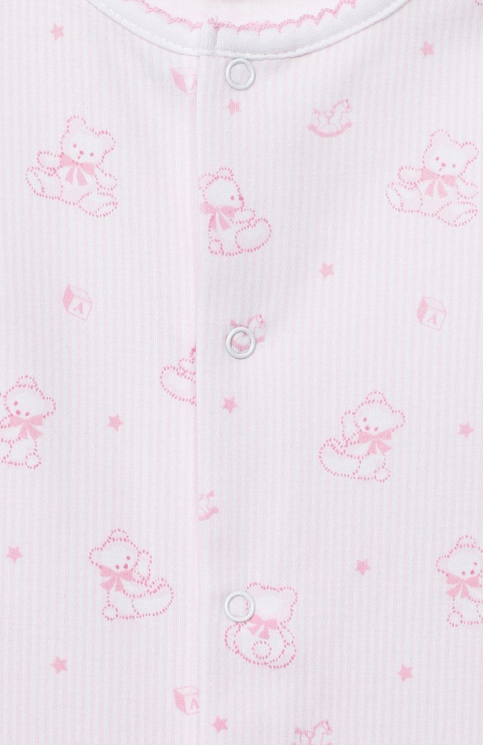 Детский хлопковый комбинезон KISSY KISSY розового цвета, арт. KGQ05239N | Фото 3