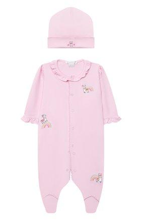 Детский комплект из комбинезона и шапки KISSY KISSY розового цвета, арт. KGQ05358N | Фото 1