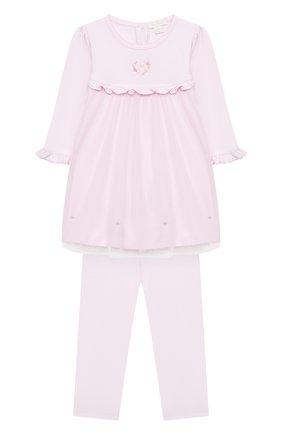 Женский комплект из платья и брюк KISSY KISSY розового цвета, арт. KGU05177I | Фото 1