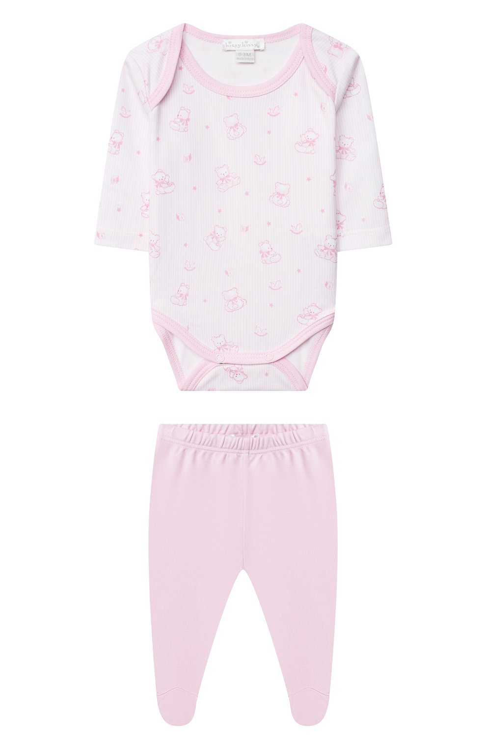 Детские комплект из боди и ползунков KISSY KISSY розового цвета, арт. KGZ05243N | Фото 1
