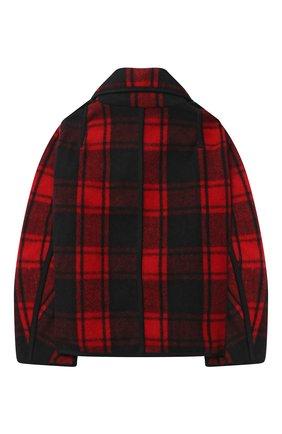 Детское шерстяное пальто DSQUARED2 красного цвета, арт. DQ04BL-D00ZS | Фото 2