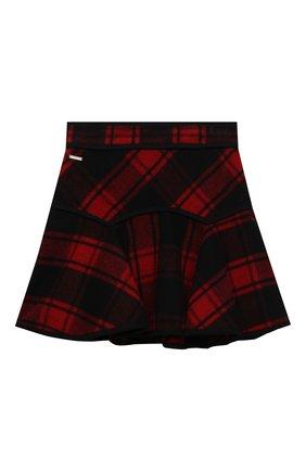 Детская шерстяная юбка DSQUARED2 красного цвета, арт. DQ04C8-D00ZS | Фото 1