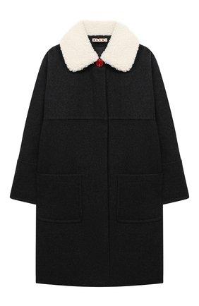 Детское шерстяное пальто MARNI темно-серого цвета, арт. M002R0-M00IR | Фото 1