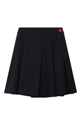 Детская шерстяная юбка MARNI темно-синего цвета, арт. M002RY-M00IM | Фото 1