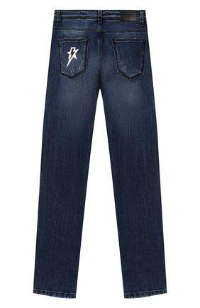 Детские джинсы NEIL BARRETT KIDS синего цвета, арт. 026020 | Фото 2