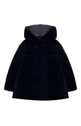 Детского пуховая куртка IL GUFO темно-синего цвета, арт. A20GM305V0013/10A-12A | Фото 1