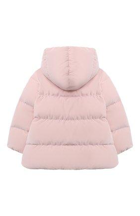 Детского пуховая куртка IL GUFO розового цвета, арт. A20GM305V0013/2A-4A | Фото 2