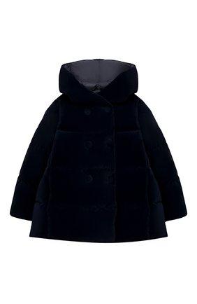 Детского пуховая куртка IL GUFO темно-синего цвета, арт. A20GM305V0013/5A-8A | Фото 1