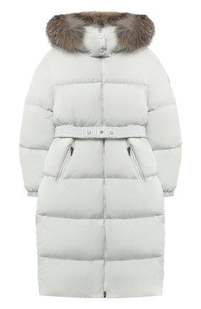 Детское пуховое пальто MONCLER серого цвета, арт. F2-954-1C528-10-C0063/8-10A | Фото 1