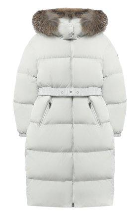 Детское пуховое пальто MONCLER серого цвета, арт. F2-954-1C528-10-C0063/4-6A | Фото 1