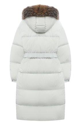 Детское пуховое пальто MONCLER серого цвета, арт. F2-954-1C528-10-C0063/12-14A | Фото 2