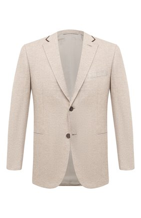 Мужской пиджак из шерсти и кашемира BRIONI бежевого цвета, арт. RGQ00L/09A8E/D0R0TE0 | Фото 1