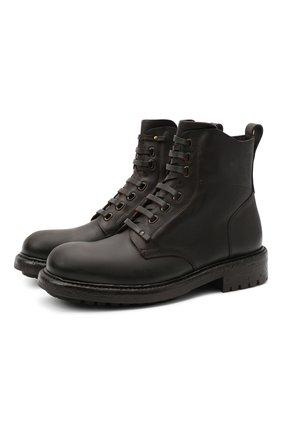 Мужские кожаные ботинки bernini DOLCE & GABBANA темно-коричневого цвета, арт. A60331/AW374 | Фото 1