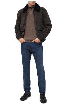 Мужские кожаные ботинки bernini DOLCE & GABBANA темно-коричневого цвета, арт. A60331/AW374 | Фото 2