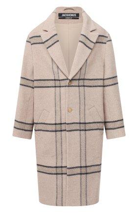 Мужской шерстяное пальто JACQUEMUS бежевого цвета, арт. 206C003/119172 | Фото 1