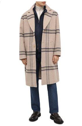 Мужской шерстяное пальто JACQUEMUS бежевого цвета, арт. 206C003/119172 | Фото 2