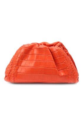 Женский клатч pouch 20 из кожи аллигатора BOTTEGA VENETA оранжевого цвета, арт. 585852/VCPX1/AMIS | Фото 1