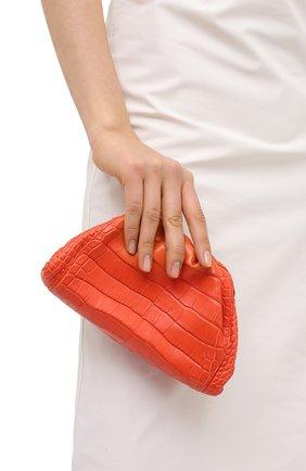 Женский клатч pouch 20 из кожи аллигатора BOTTEGA VENETA оранжевого цвета, арт. 585852/VCPX1/AMIS | Фото 2