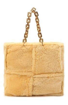 Женская сумка-тоут chain large BOTTEGA VENETA бежевого цвета, арт. 631420/VBWX0 | Фото 1