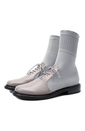 Женская комбинированные ботинки GIORGIO ARMANI серого цвета, арт. X1M351/XM362 | Фото 1