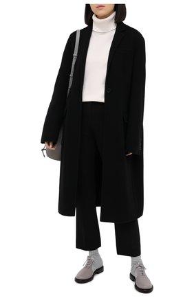 Женская комбинированные ботинки GIORGIO ARMANI серого цвета, арт. X1M351/XM362 | Фото 2