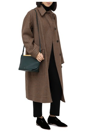 Женская текстильные дерби GIORGIO ARMANI черного цвета, арт. X1C212/XM576 | Фото 2