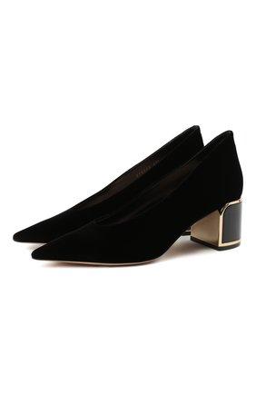 Женские текстильные туфли GIORGIO ARMANI черного цвета, арт. X1E863/XM576 | Фото 1