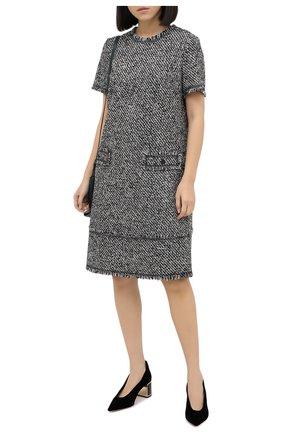 Женские текстильные туфли GIORGIO ARMANI черного цвета, арт. X1E863/XM576 | Фото 2