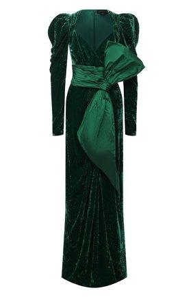 Женское платье ZUHAIR MURAD зеленого цвета, арт. DRP20342/VESB003 | Фото 1