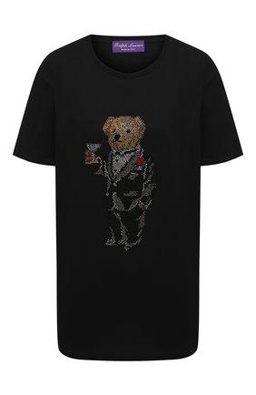 Женская хлопковая футболка RALPH LAUREN черного цвета, арт. 293835490 | Фото 1