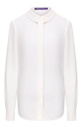 Женская шелковая рубашка RALPH LAUREN белого цвета, арт. 290825791 | Фото 1
