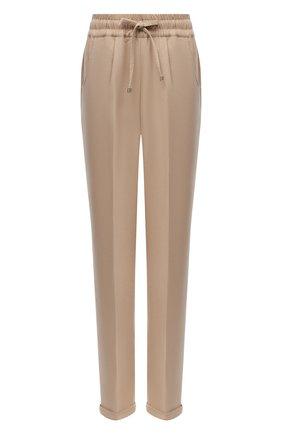 Женские кашемировые брюки KITON бежевого цвета, арт. D37102K05H99 | Фото 1