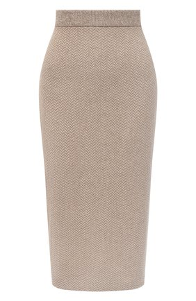 Женская кашемировая юбка RALPH LAUREN коричневого цвета, арт. 290818342 | Фото 1