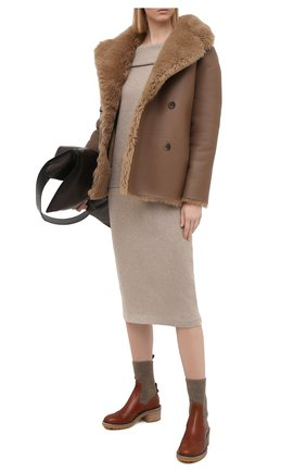Женская кашемировая юбка RALPH LAUREN коричневого цвета, арт. 290818342 | Фото 2