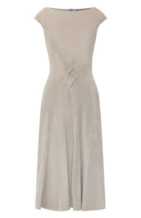 Женское замшевое платье RALPH LAUREN серого цвета, арт. 290818153 | Фото 1