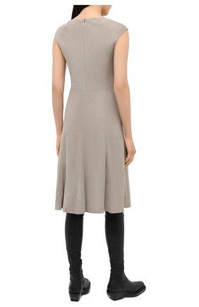Женское замшевое платье RALPH LAUREN серого цвета, арт. 290818153 | Фото 4