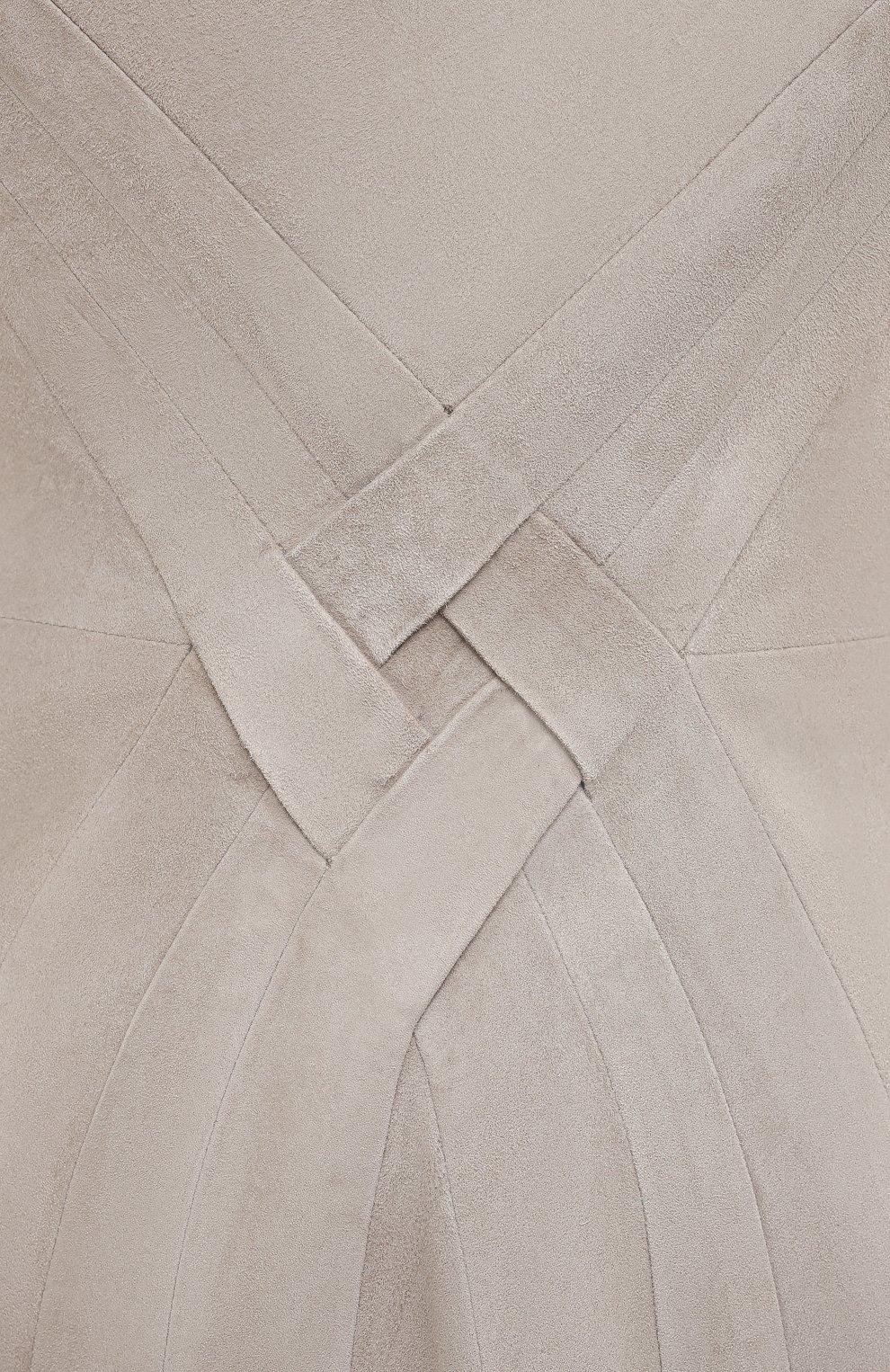 Женское замшевое платье RALPH LAUREN серого цвета, арт. 290818153 | Фото 5