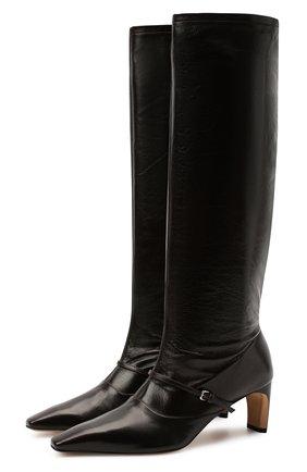 Женские кожаные сапоги JIL SANDER темно-коричневого цвета, арт. JS35113A-12015   Фото 1