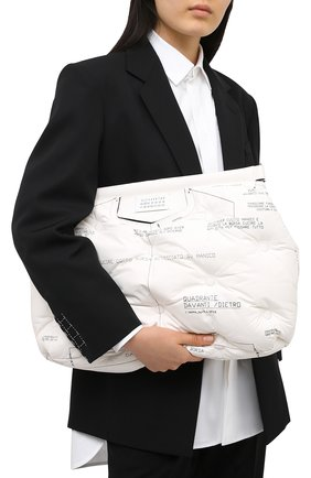Женская сумка glam slam large MAISON MARGIELA белого цвета, арт. S61WG0030/PS123 | Фото 2