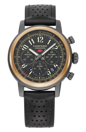 Мужские часы mille miglia chronograph rose gold dlc coated steel CHOPARD черного цвета, арт. 168589-6002 | Фото 1