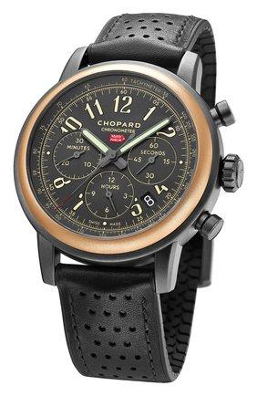 Мужские часы mille miglia chronograph rose gold dlc coated steel CHOPARD черного цвета, арт. 168589-6002 | Фото 2