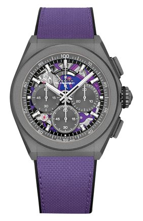 Мужские часы defy el primero 21 ultraviolet ZENITH бесцветного цвета, арт. 97.9001.9004/80.R922 | Фото 1 (Материал корпуса: Титан; Цвет циферблата: Другое; Механизм: Автомат)