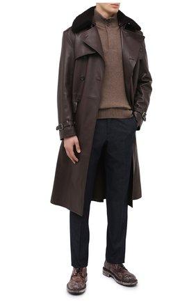 Мужской кожаные дерби bernini DOLCE & GABBANA коричневого цвета, арт. A10655/AX535 | Фото 2
