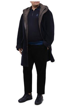 Мужское поло из кашемира и шелка ZILLI синего цвета, арт. MBU-PZ022-ZISC1/ML02/AMIS | Фото 2