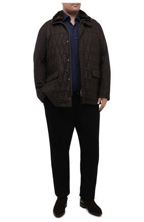 Мужской хлопковые брюки ZILLI черного цвета, арт. M0U-D0180-LUCC1/R001/AMIS | Фото 2