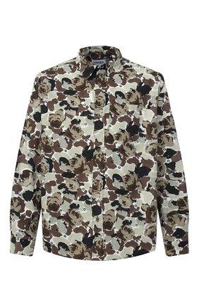 Мужская хлопковая рубашка KENZO хаки цвета, арт. FA65CH4019B1 | Фото 1